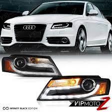 2009 2010 2011 Audi A4 S4 Quattro Black Led Drl Projector Xenon Headlights Lamps Audi A4 Audi Bmw Car