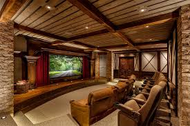 theater room furniture ideas. Plain Room Rustic Theater Home Charlotte By Kasted DPDG Throughout Room Furniture Ideas