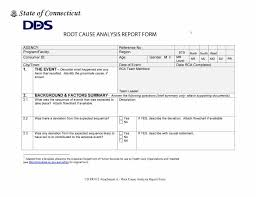 Root Cause Analysis Template Unique root cause form Erkaljonathandedecker