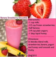 strawberry banana smoothie um