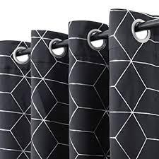 Buy jinchan Silver Solid <b>Diamond</b> Foil <b>Print</b> Grommet Top Blackout ...
