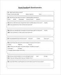 event planning questionnaire event planning survey templates