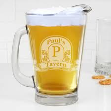 personalized deep etch beer pitcher vintage bar sign 15924