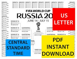 World Cup Planner Chart 2018 World Cup 2018 Russia Wall Chart Poster Schedule Bracket Groups Print Out