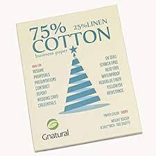 Amazon Com 75 Cotton 25 Linen Paper 85gsm Inkjet Laser Printing