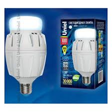 Светодиодная <b>лампа Uniel LED-M88-100W/DW/E27/FR</b> ALV01WH ...