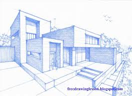 architecture design house drawing. Easy A In Perspective Youtube Architecture Design Point View Modern Dream House Drawing