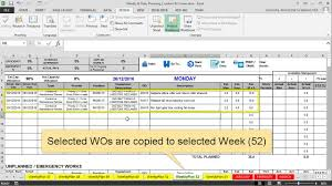 Features Maintenance Planning And Scheduling Excel Template Youtube