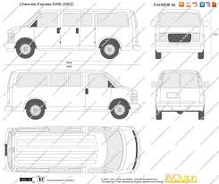 The-Blueprints.com - Vector Drawing - Chevrolet Express SWB