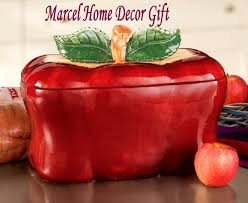 red apple kitchen decor cookie jar canister canisters