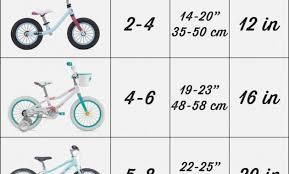 Rigorous Girls Bike Sizing Chart 2019