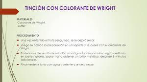 Que Contiene El Colorante De Wright L