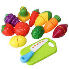 Melissa And Doug Retro Kitchen Melissa Doug Wooden Cutting Food Value Pack Play Food Set By