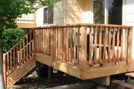 fancy assembled diy deck railing ideas basic sundeck brown side material view low