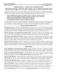 Construction Site Manager Sample Resume Mitocadorcoreano Com