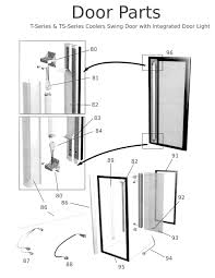commercial door handle parts t and ts series coolers sing door with intergrated light parts sc 1 st prashanti