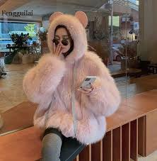 top 8 most popular womens leather <b>coat fox</b> fur brands and get free ...
