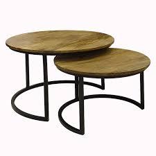 slide under coffee table black set of 2