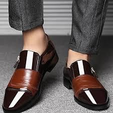 large size men business suit leather shoes