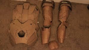 cardboard iron man pieces