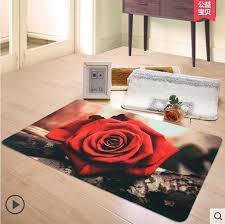 red rose rug pink flower shaped rug gallery decoration ideas