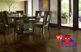 laminate flooring can t be refinished and must be replaced when it bees too worn in order to re the look of the floor there are few other flooring
