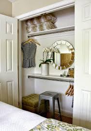 guest room closet - vanity in a closet