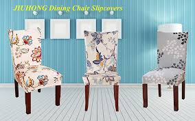 redecorate your dining room in style with this sure fit stretch dining room chair cover it es in a rich color pallet that blends with most room decor