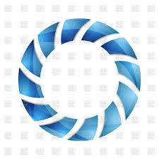 blue abstract concept circle logo design vector image vector ilration of borders and frames to zoom