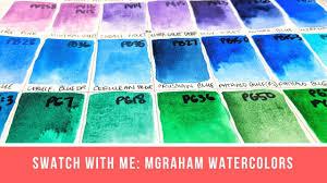 M Graham Color Chart Swatch With Me M Graham Watercolors 47 Colors