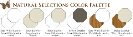 N NH Operating Octagon Window Series Natural Selections Color Palette Vinyl  Replacement U0026amp New Construction Windows