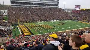 Kinnick Stadium Rows Seating Chart Kinnick Stadium Section 110 Home Of Iowa Hawkeyes