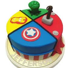 Marvel Superheroes Avengers Birthday Cake