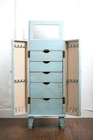 wall mounted jewelry armoire enchanting wall mounted jewelry furniture in light blue color wall mount jewelry armoire mirror cherry