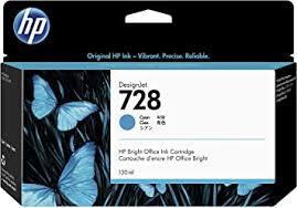 <b>HP 728 Cyan</b> 130-ml Genuine Ink Cartridge (F9J67A) for <b>DesignJet</b> ...