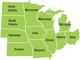 map us midwest states maps of usa midwestern united for region