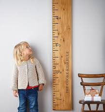 Wooden Height Chart Wooden Ruler Height Chart Petagadget