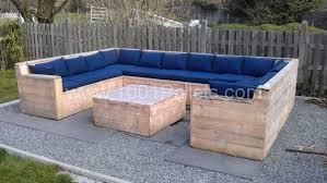 Image of: Pallet Outdoor Furniture Tutorial