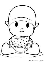 Pocoyo Coloring Pages On