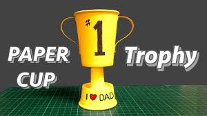 paper cup trophy kid s diy great father s day gift