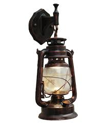 Rustic Lantern Light E27 Retro Antique Vintage Rustic Lantern Lamp Wall Sconce