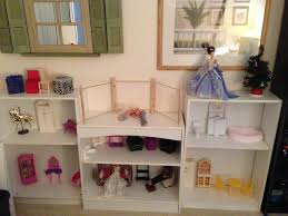 diy barbie dollhouse using bookshelves wip barbie doll house furniture sets