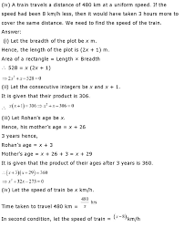ncert solutions for class 10th maths chapter 4 quadratic equations