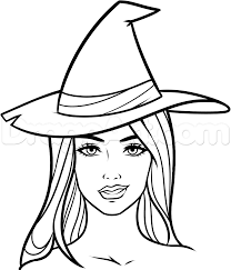 How To Draw A Witch Face