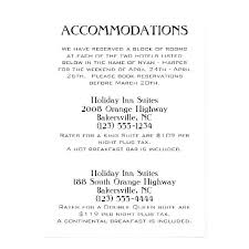 how to word hotel accommodations for wedding invitations wedding invitations hotel accommodation cards invitation card