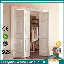 china composite hollow core six panel bifold interior closet wood mdf door china wood door panel door