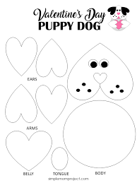 Free Craft Printables Templates Valentines Day Puppy Dog Card With Free Printable Template