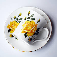 Decorating With Teacups And Saucers Vintage Tea cup and saucer Rosina Villeta's Arts golden rim by 38