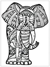 coloring page of an elephant pages e is for book and elephants draw background mandala colori coloring