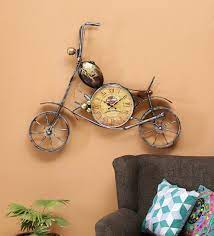 gold metal antique wall clock by